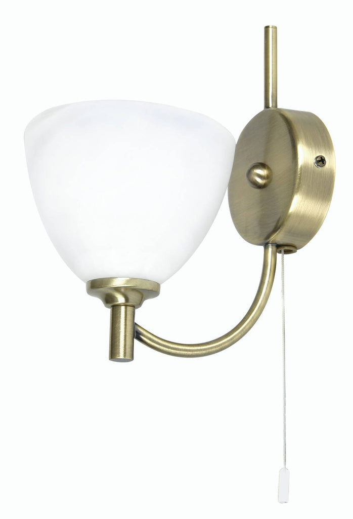 Oaks Hamburg 1178/1 AB Single Antique Brass Wall Light-Oaks Lighting-DC Lighting Ltd