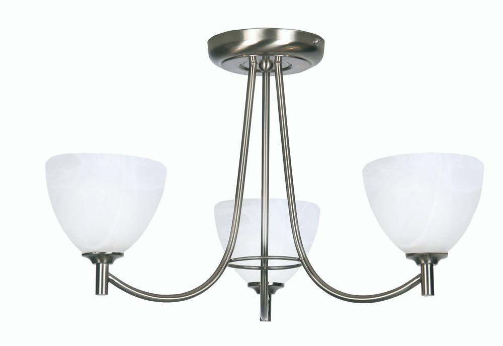 Oaks Hamburg 1178/3 AC Antique Chrome 3-Light Semi Flush-Oaks Lighting-DC Lighting Ltd