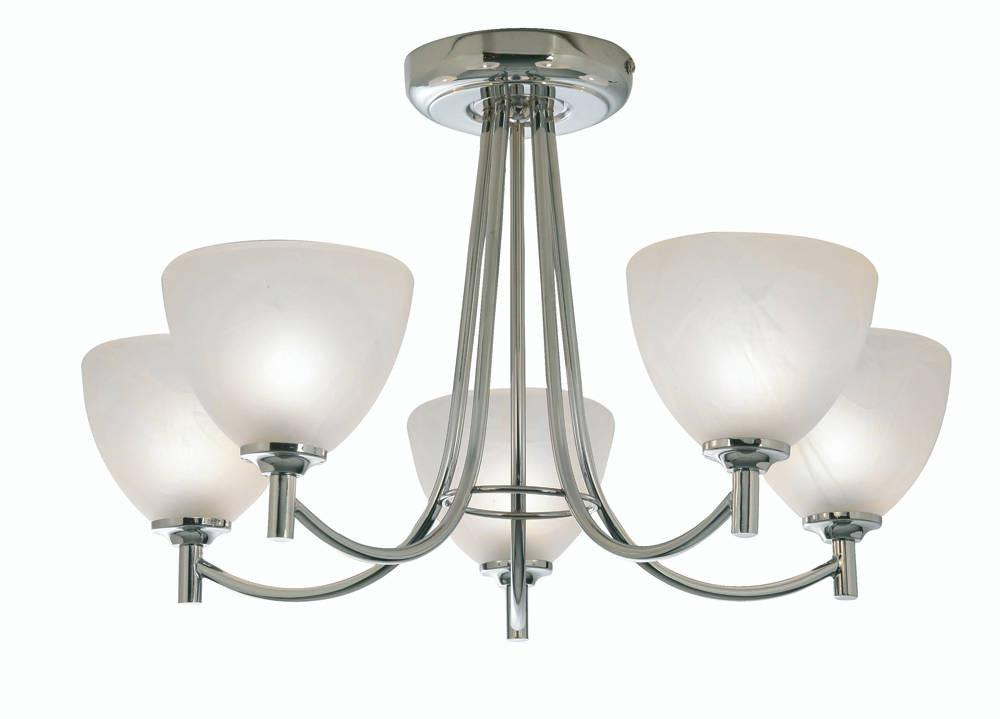 Oaks Hamburg 1178/5 CH Polished Chrome 5-Light Semi Flush-Oaks Lighting-DC Lighting Ltd