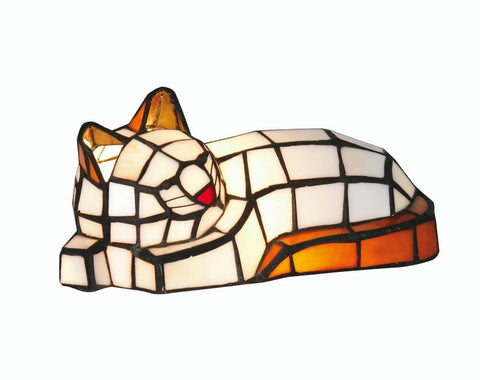 Oaks OT 150 Cat Orange And White Cat Tiffany Light