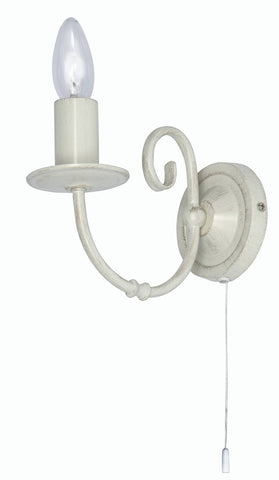 Oaks Tuscany 3380/1 IV Single Wall Light In Ivory Finish