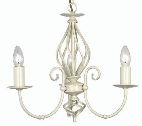 Oaks Tuscany 3380/3 IV 3-Light Chandelier In Ivory Finish
