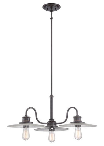 Quoizel QZ/ADMIRAL/3P IB Admiral 3Lt Chandelier Imperial Bronze