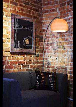 Retro Floor Chrome Arc Floor Lamp With Shade Available In 12 Colours-DC Lighting Ltd