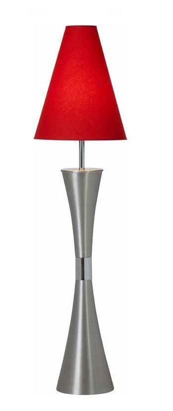 Rock satin chrome and chrome floor lamp with a tall shade rock satin chrome and chrome floor lamp with a tall shade available in 10 colours mozeypictures Gallery