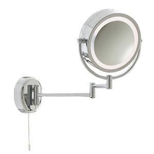Searchlight 11824 BATHROOM LIGHTS Chrome Extendable Mirror X 3 Magnification-Searchlight Lighting-DC Lighting Ltd