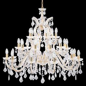 Searchlight 1214-30 MARIE THERESE 1214-30 Crystal Chandelier-Searchlight Lighting-DC Lighting Ltd
