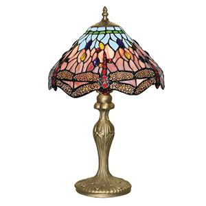 Searchlight 1287 DRAGONFLY 47cm Dragonfly Tiffany Table Lamp-Searchlight Lighting-DC Lighting Ltd