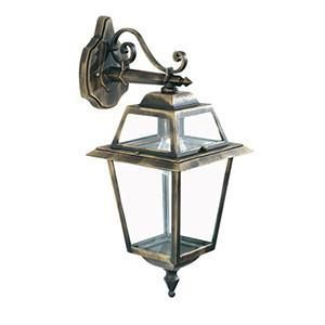 Searchlight 1522 NEW ORLEANS Downlight Outdoor Wall Light Black/Gold. IP44