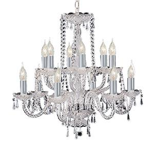 Searchlight 1712-12 HALE 12 Light Chrome Georgian Crystal