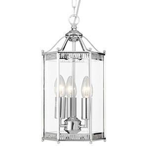 Searchlight 2273CC LANTERNS 3 Light Chrome Hexagonal Lantern-Searchlight Lighting-DC Lighting Ltd