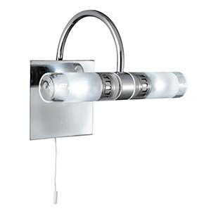 Searchlight 2555CC BATHROOM LIGHTING Chrome 2 Light Wall Bracket IP44 Bathroom-Searchlight Lighting-DC Lighting Ltd