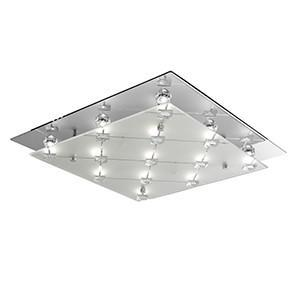 Searchlight 3822CC LED FLUSH LED Square Flush - Frosted And Clear Glass Shade