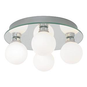 Searchlight 4337-4 BATHROOM LIGHTS IP44 Globe 4 Light Chrome Flush