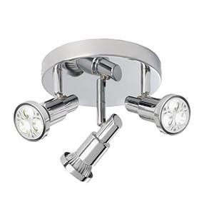 Searchlight 5343CC TORCH 3 Light LED Torch Chrome Spot Round