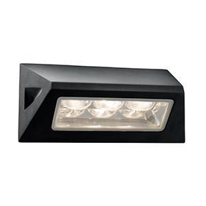 Searchlight 5513BK LED OUTDOOR LIGHTS Black Outdoor Wall Light - White LED. IP44
