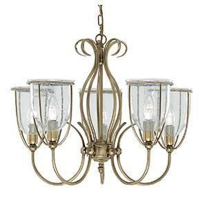 Searchlight 6355-5AB SILHOUETTE Silhouette 5 Light Antique Brass Fitting