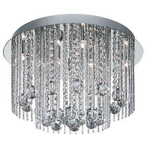 Searchlight 8088-8CC BEATRIX 8 Light Chrome Crystal Fitting Complete With Strands And Balls