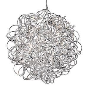 Searchlight 9432 SCRIBBLE Scribble 6 Light Tangled Aluminium Pendant