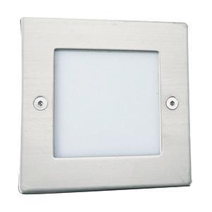 Searchlight 9907WH LED RECESSED Square Chrome Recessed Light-White LED 20 Lumens