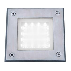 Searchlight 9909WH LED RECESSED Square Chrome Walkover Light - White LED 20 Lumens
