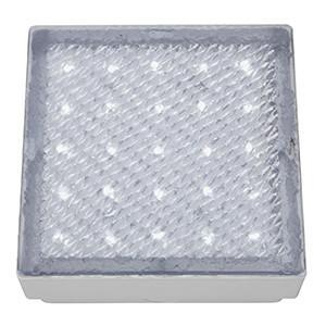 Searchlight 9913WH LED RECESSED Clear 15cm Square Walkover - White LED 20 Lumens