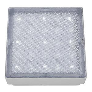 Searchlight 9914WH LED RECESSED Clear Small Square Walkover - White LED Ip68
