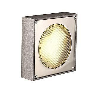 SLV 111131 QUADRASYL D outdoor lamp for ceiling mounting silvergrey