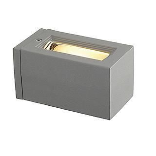 SLV 227064 OUT-BEAM G9 wall lamp square silvergrey max. 60W-DC Lighting Ltd