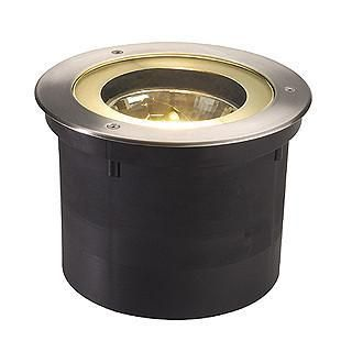 SLV 227090 ADJUST ROUND QRB ground recessed lamp with round stainless steel cover-DC Lighting Ltd