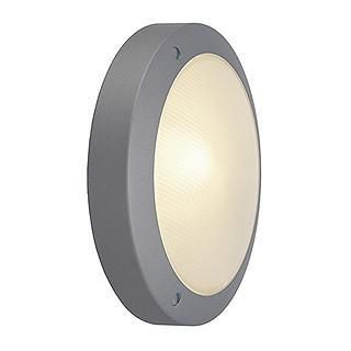 SLV 229072 BULAN ceiling lamp round silvergrey E14 max. 11W frosted glass-SLV-DC Lighting Ltd