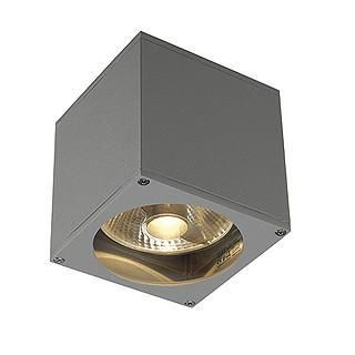 SLV 229564 BIG THEO wall OUT ES111 wall lamp square silvergrey GU10 max. 75W-DC Lighting Ltd
