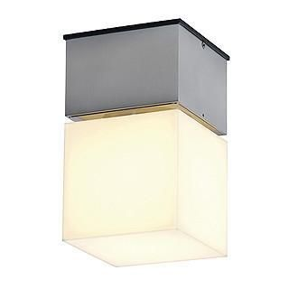 SLV 230716 SQUARE C wall and ceiling lamp square alu brushed E27 max. 20W-DC Lighting Ltd