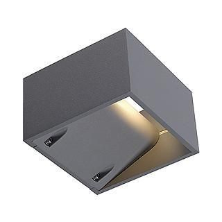 SLV 232104 LOGS wall lamp square silvergrey 6W LED warm white-DC Lighting Ltd