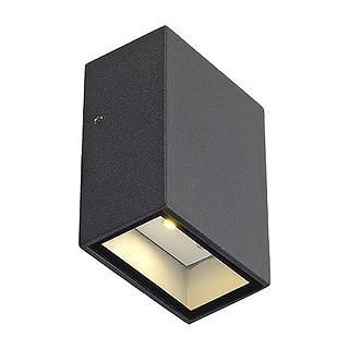 SLV 232465 QUAD 1 wall lamp square antracite LED 1x3W warm white-DC Lighting Ltd