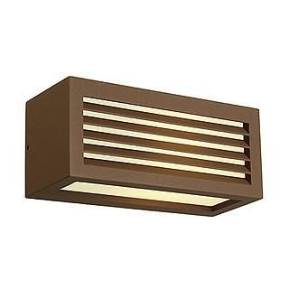 SLV 232497 BOX-L E27 wall lamp square rust-coloured E27 max. 18W-DC Lighting Ltd