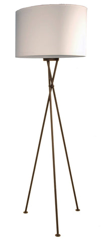 Trix 50 Large Black Tripod Floor Lamp With A 50cm Shade Available in18 Colours