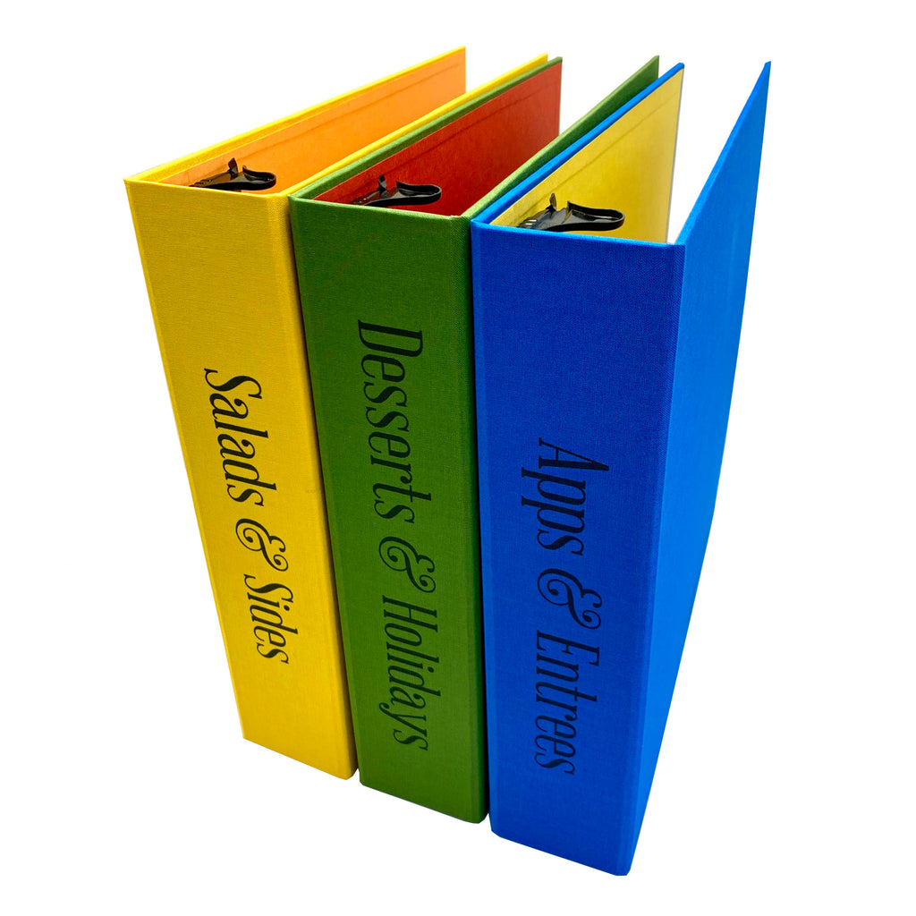 Custom 3 ring binders for menu planning