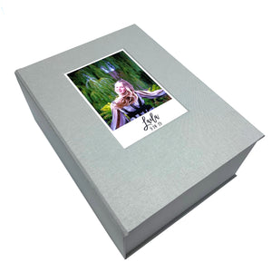 Custom box with photo inlay for Bar/Bat Mitzvah keepsakes