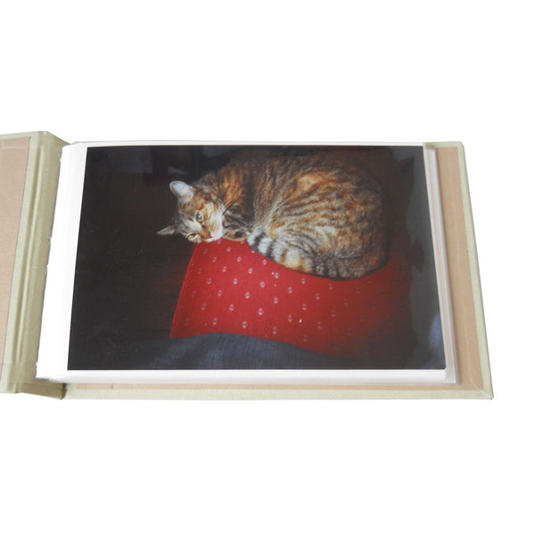 personalized ribbon bound photo album (4x6) - 24 photos