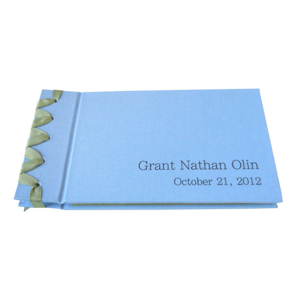 personalized ribbon bound photo album