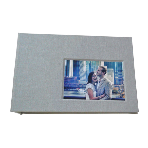 4x6 photo album with photo of couple inset