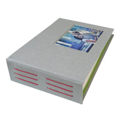 custom 4x6 photo album with photo inset