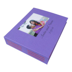custom photo booth guestbook with photo of couple on front cover