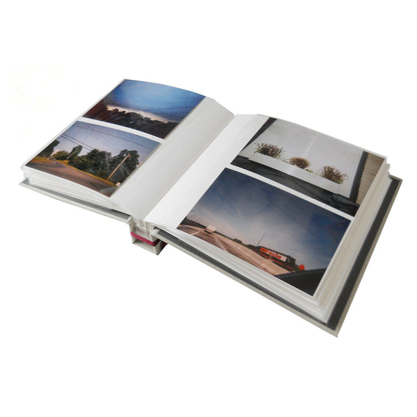 slip in style photo album with two 5x7 photos per page