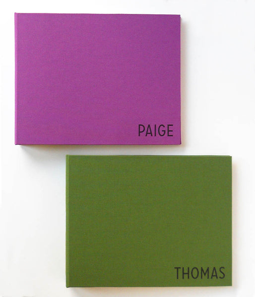 purple and green personalized 8x10 photo albums