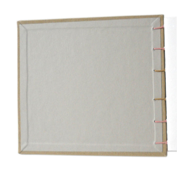 cement grey endsheet of khaki brown book