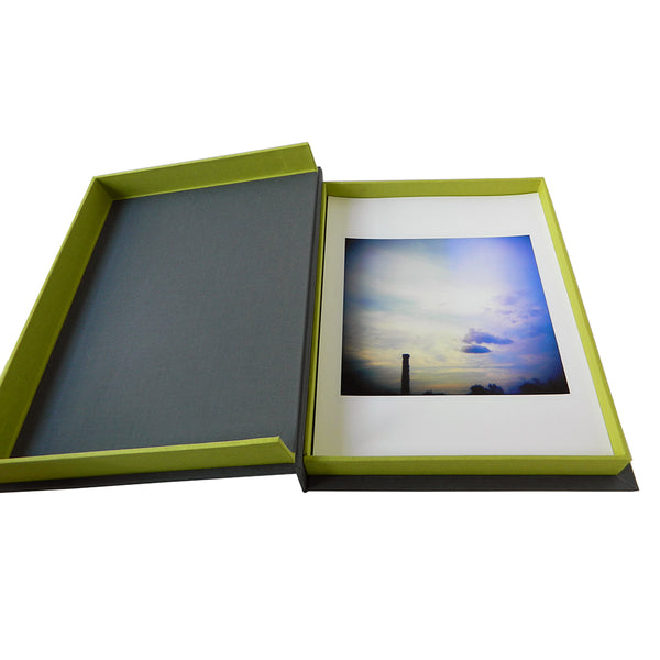 clamshell box storing 8.5x11 inch photos