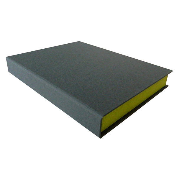 grey cover of clamshell box