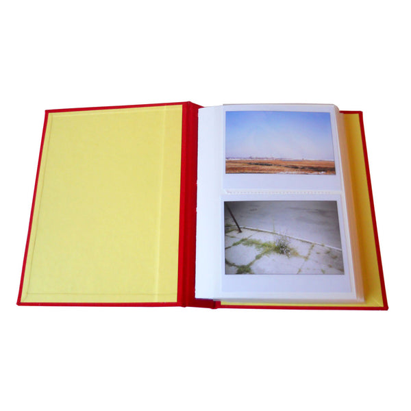 custom photo album with two instax wide photos per page